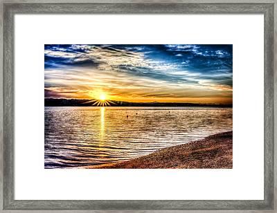 Puget Sound Sunrise Framed Print