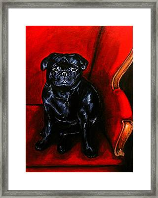 Framed Print featuring the painting Puggsley by Thomas Lupari