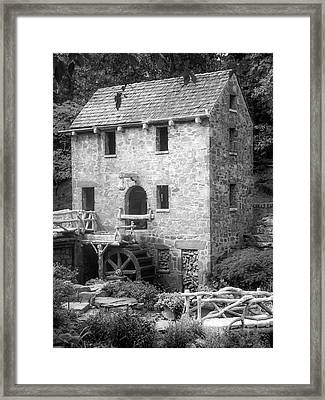 Framed Print featuring the photograph Pughs Mill - North Little Rock Arkansas - Black And White by Gregory Ballos