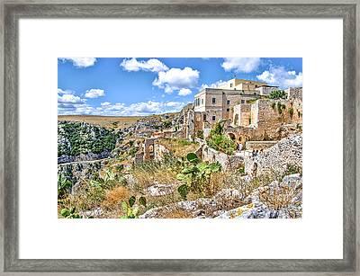 Puglia Canvas Church Hermitage Pulsano - Monte Sant Angelo - Foggia - Gargano Framed Print by Luca Lorenzelli