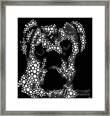Pugs Are People Too Black And Whte Framed Print by Saundra Myles