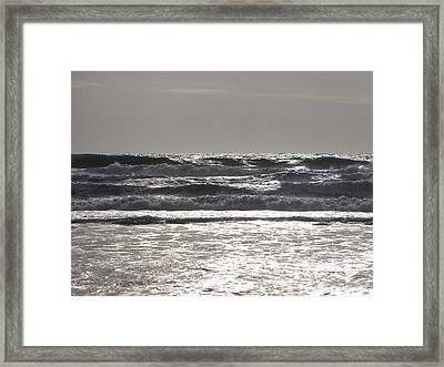 Framed Print featuring the photograph Puissance Oceane by Marc Philippe Joly