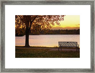 Framed Print featuring the photograph Pull Up A Seat by John De Bord