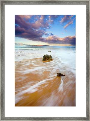 Pulled To The Sea Framed Print by Mike  Dawson