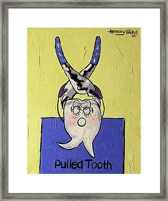 Pulled Tooth Dental Art By Anthony Falbo Framed Print by Anthony Falbo