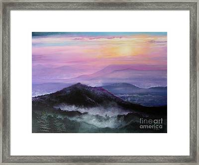 Pulling Down The Shades Framed Print by Diana  Tyson