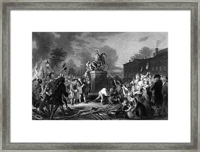 Pulling Down The Statue Of George IIi Framed Print by War Is Hell Store