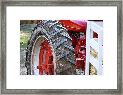 Pulling For The Farm Framed Print by Peter  McIntosh