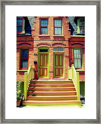 Pullman National Monument Row House Framed Print