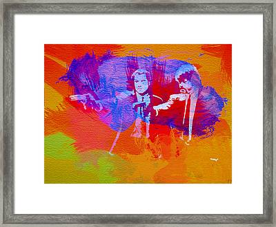 Pulp Fiction 2 Framed Print by Naxart Studio