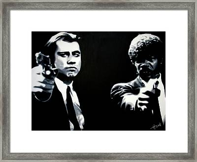 Pulp Fiction Framed Print by Luis Ludzska