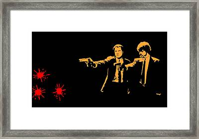 Pulp Fiction Splatter  Framed Print by Movie Poster Prints