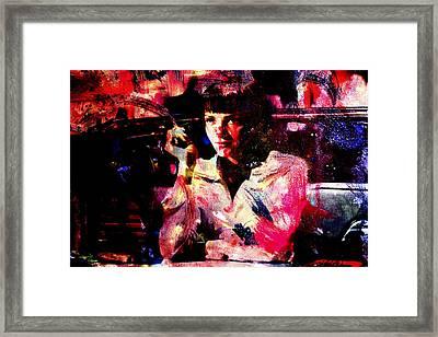 Pulp Fiction Uma Thurman Framed Print