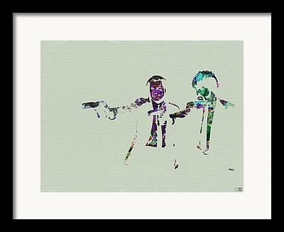 John Travota Pulp Fiction Framed Prints