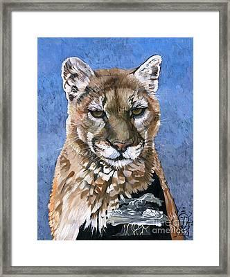 Puma - The Hunter Framed Print