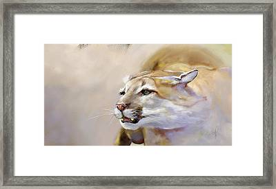 Puma Action Framed Print by Arie Van der Wijst