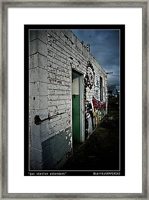 Pump Attendant Framed Print by Sarita Rampersad