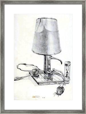 Pump Lamp Framed Print