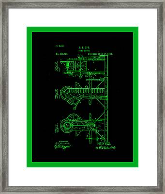 Pump Motor Patent Drawing 1a Framed Print