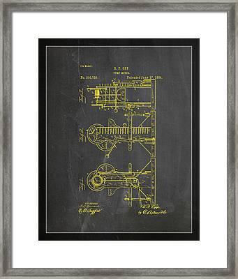 Pump Motor Patent Drawing 1b Framed Print