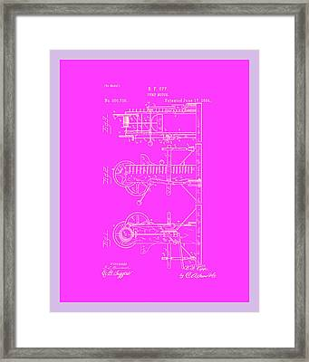Pump Motor Patent Drawing 1c Framed Print