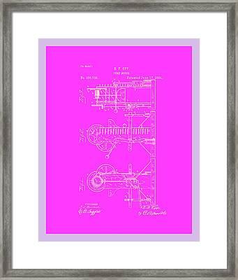 Pump Motor Patent Drawing 1c Framed Print