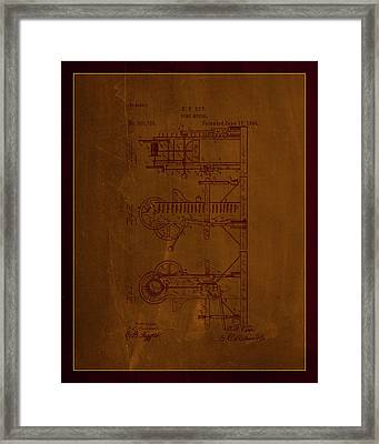 Pump Motor Patent Drawing 1d Framed Print