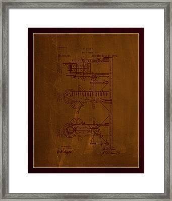 Pump Motor Patent Drawing 1d Framed Print