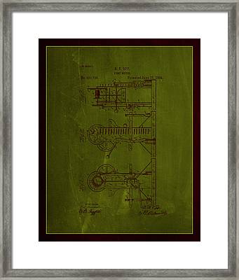 Pump Motor Patent Drawing 1e Framed Print