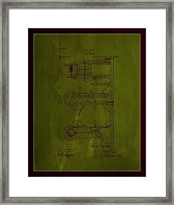 Pump Motor Patent Drawing 1e Framed Print