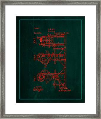 Pump Motor Patent Drawing  Framed Print