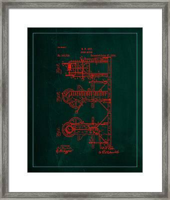 Pump Motor Patent Drawing  Framed Print
