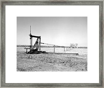 Pumping Oil Framed Print