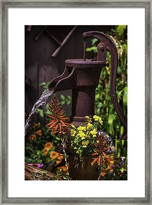 Pumping Water Framed Print by Garry Gay