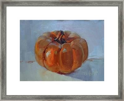 Pumpkin Alone  Framed Print by Donna Shortt