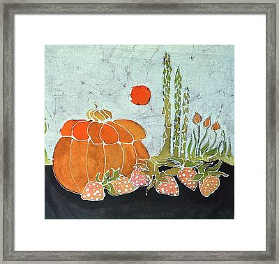 Pumpkin And Asparagus Framed Print