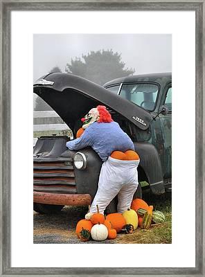 Pumpkin Butt Framed Print