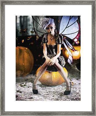 Pumpkin Fairy Framed Print