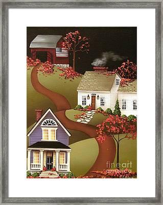 Pumpkin Harvest In Mapleton  Framed Print