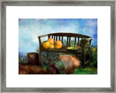 Pumpkin Harvest Respite Framed Print by Colleen Taylor
