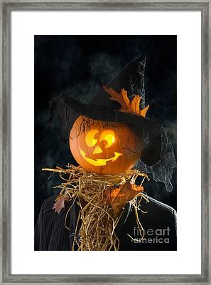 Pumpkin Head Framed Print