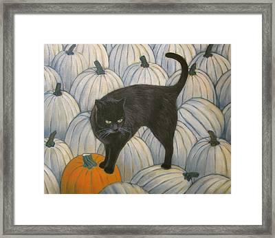 Pumpkin Keeper Framed Print