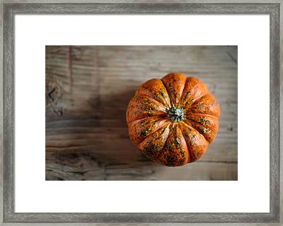 Pumpkin Framed Print by Nailia Schwarz