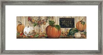 Pumpkin Panel Framed Print by Marilyn Dunlap