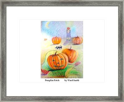 Pumpkin Patch Framed Print by Ward Smith