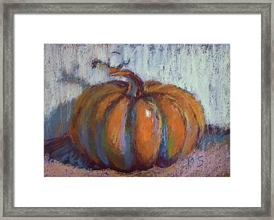 Pumpkin Plenty Framed Print by Donna Shortt