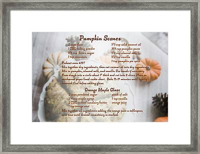 Pumpkin Scones Recipe Framed Print