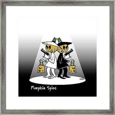 Pumpkin Spies Framed Print
