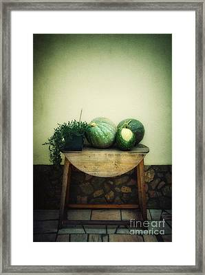 Pumpkin Table Framed Print by Carlos Caetano