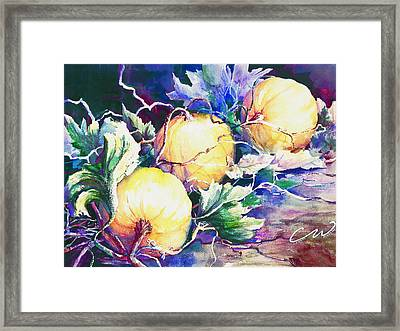 Pumpkin Time Framed Print by Connie Williams